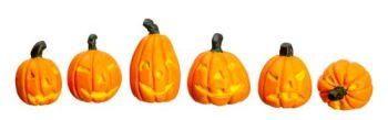 Pumkin Jack O'Lantern Set with Faces