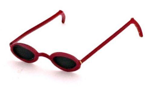 Dollhouse Miniature Classic Red Sunglasses