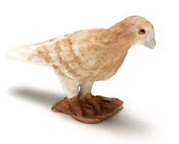 Dolls House 12th Scale-Garden Bird- Brown Pigeon