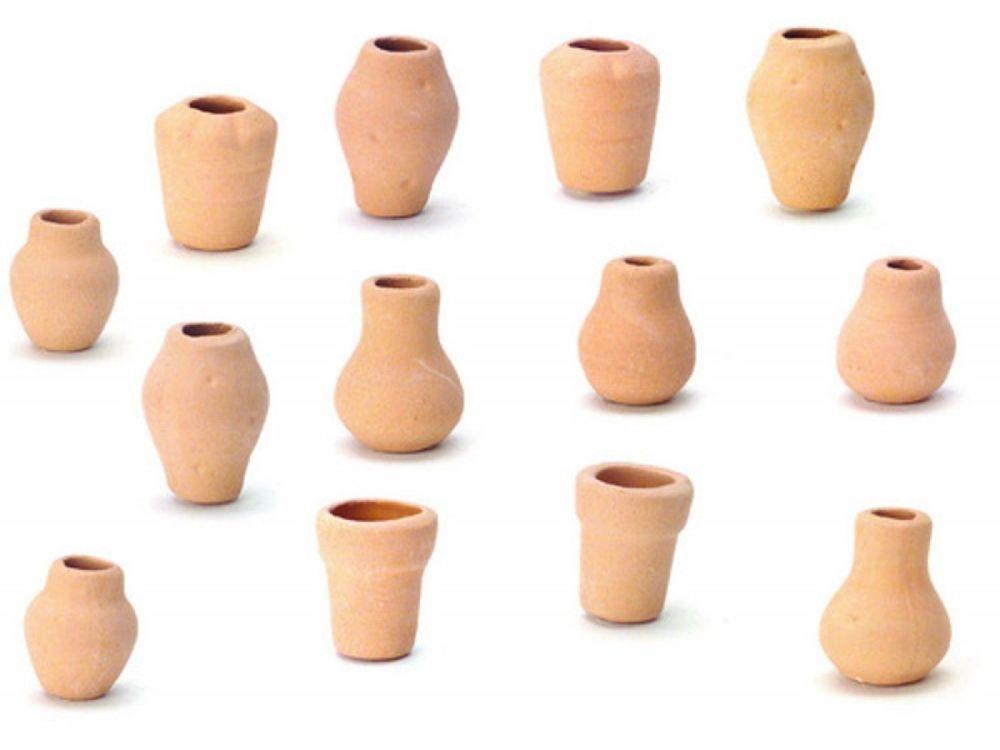Set of Twelve Assorted Clay Pots