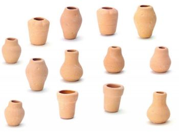 Set of Twelve Assorted Clay Pots
