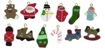 Set of 12 Christmas Hangers-DESIGNS VARY