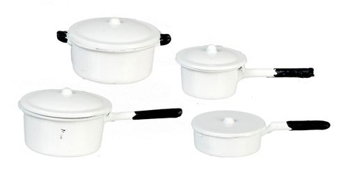 4 Piece Pan set - White