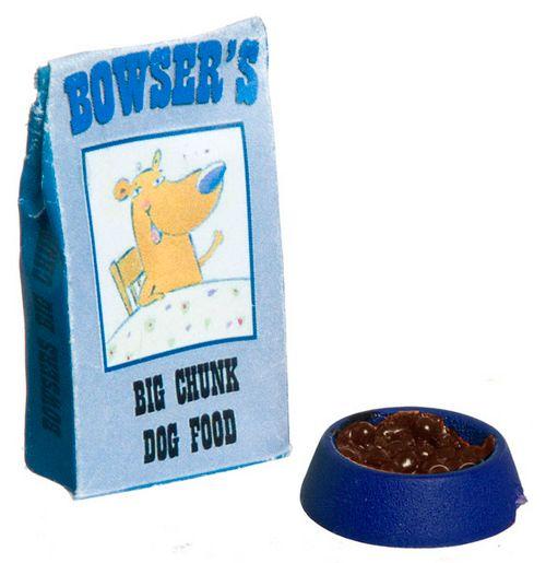 Dog Food and Bowl