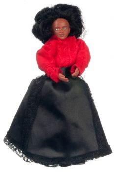 """6"""" Doll - Vinyl - Red & Black Outfit"""