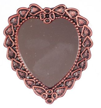 Copper Colour Heart Mirror