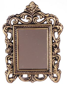 FLORAL ANTIQUE BRASS MIRROR