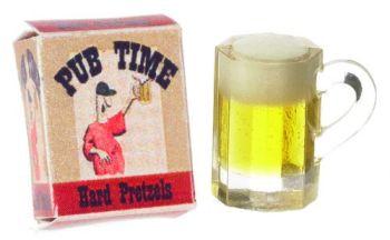 Beer Mug with Pretzels