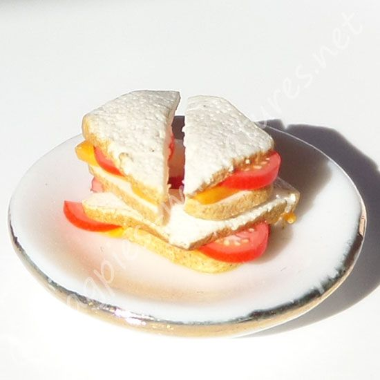 Cheese and Tomato Sandwich on plate