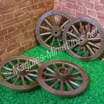 Set of 4 Plastic wheels - 47mm Diameter