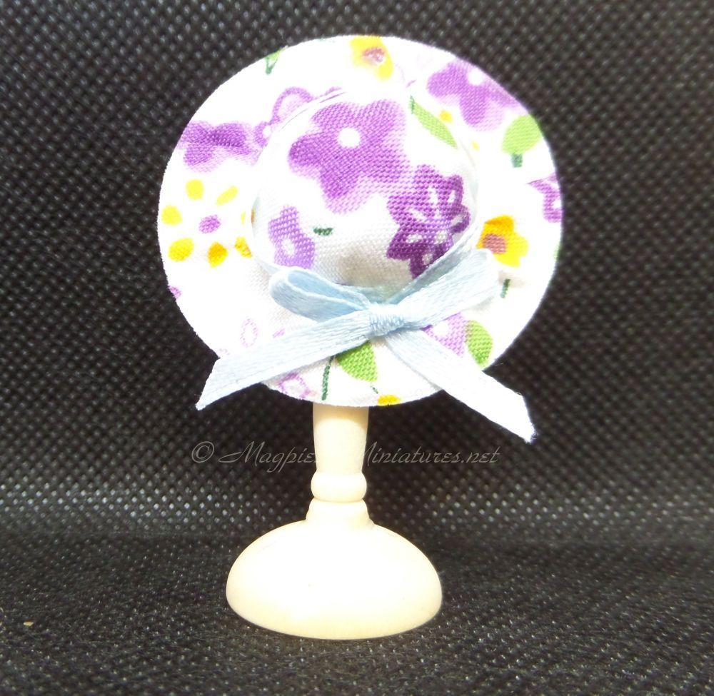Ladies Summer Hat - Purple Floral