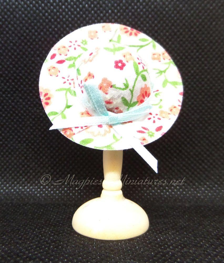Ladies Summer Hat - Pink Floral