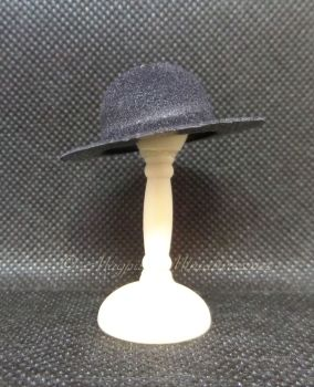 Mans Hat - Black Round Top