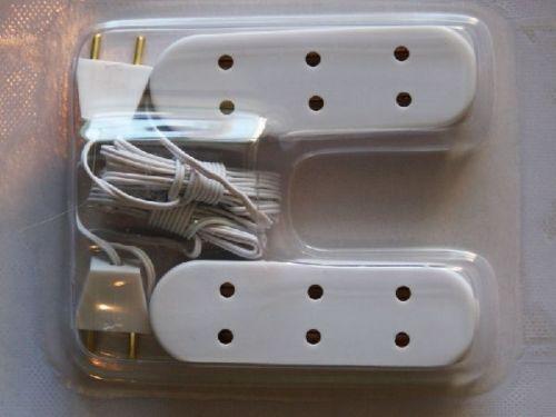 Triple Socket and Plug, Pack of 2