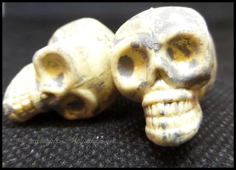 1 Pair of Plastic Skulls