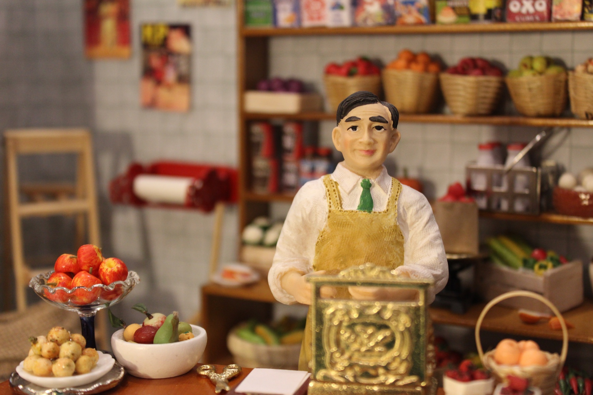 12th Scale Resin Doll Shopkeeper