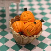 Pumpkin Set with Jack O'Lantern Faces
