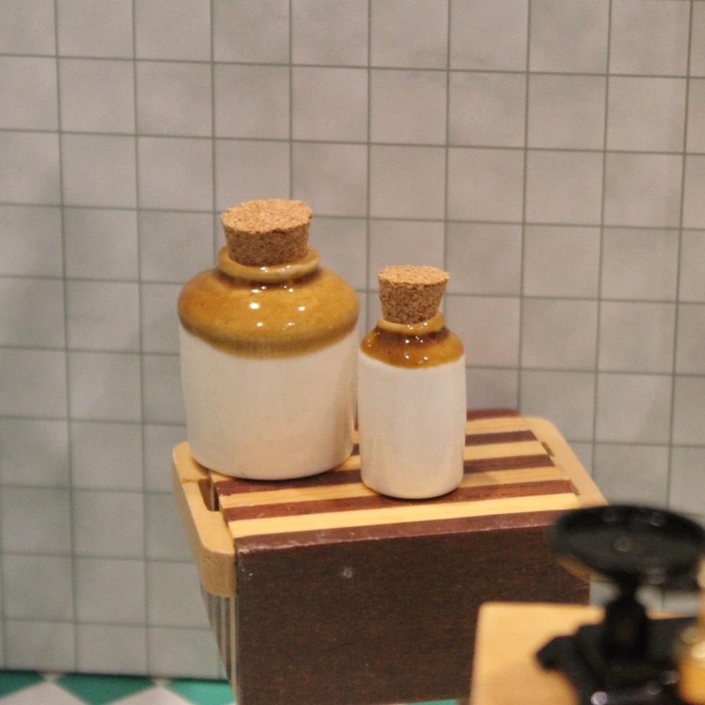 2 Stoneware Jars