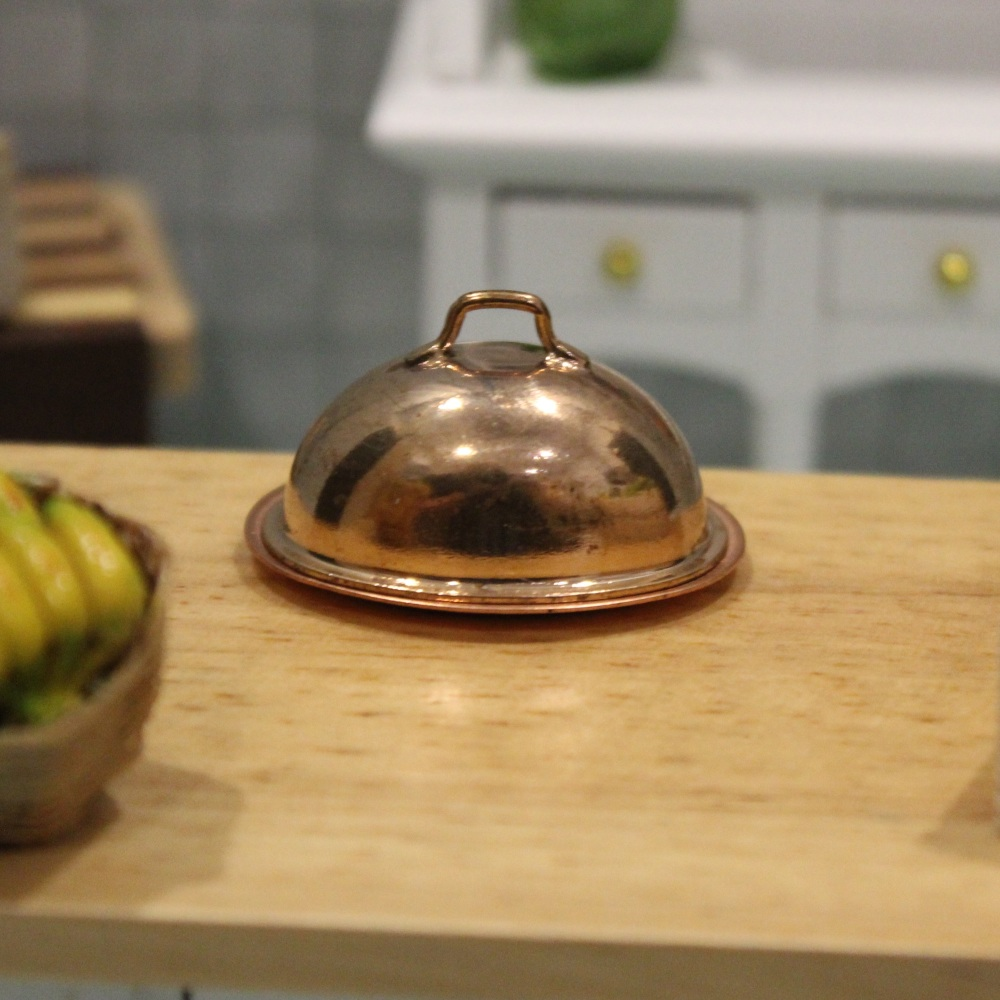 Copper Oval Serving Tray with Lid