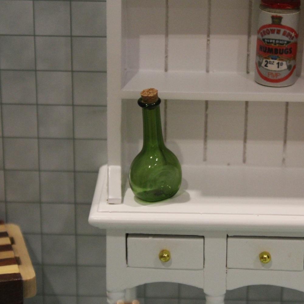 Green Glass Corked Bottle