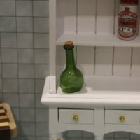 Green Glass Corked Bottle