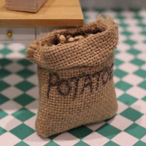 Large Open Sack of Potatoes