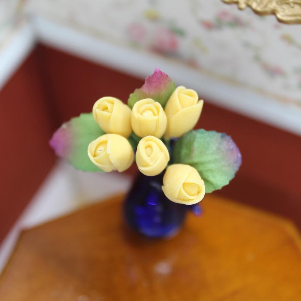 Yellow Tulip Flower Stems