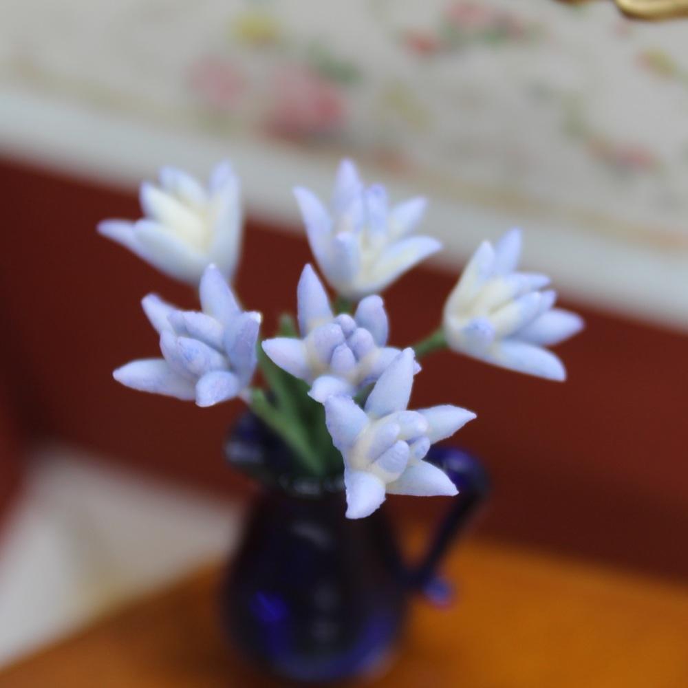 Blue Flower Stems