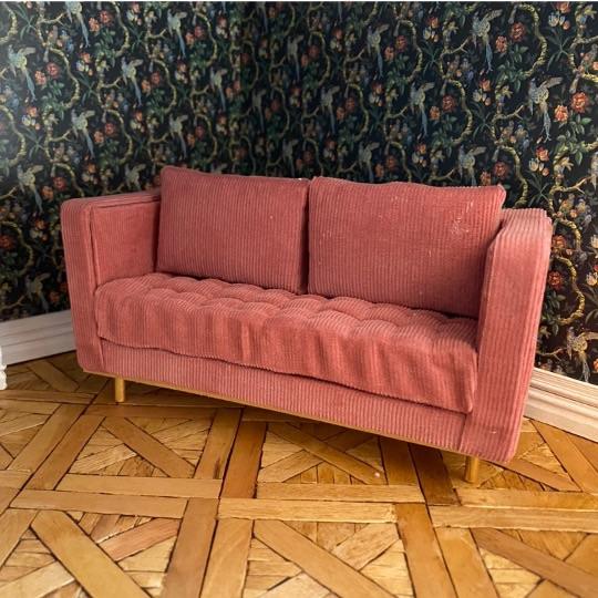 Large 2 Seater Sofa  - 12th Scale Custom Made Sofa - Other Colours Avaliable