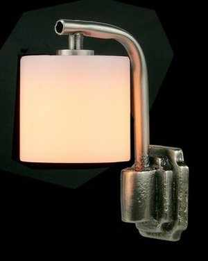 Modern Wall Lamp with Palace Shade - Silver