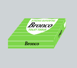 Bronco Toilet Tissue Box