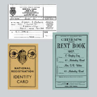 War Years - Identity, Medical & Rent Card