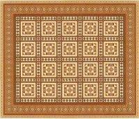 Wallpaper Victorian tiles floorpaper