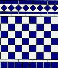 Gloss Tile Wall Card Blue