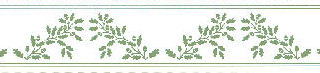 Acorns Border, Green on White background