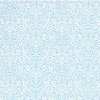 Wallpaper Acorns, Blue on White background