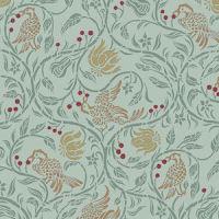 Wallpaper Birds & Berries, Green background