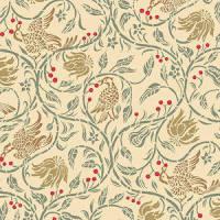 Birds & Berries, Cream background
