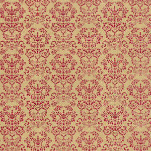 Wallpaper Renaissance,  Red on Gold background
