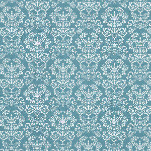 Wallpaper Renaissance,  White on Blue background