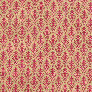 Victorian,  Red on Gold background.