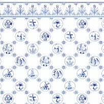 Dutch Tile,  Blue on White background-24th scale