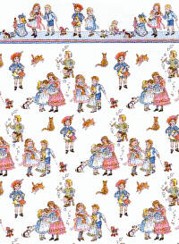 24th Scale Wallpaper Children on White background