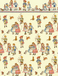 24th Scale Wallpaper Children, Dark Cream background