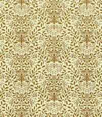 24th Scale Wallpaper Acorns - Brown on cream