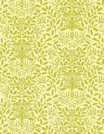 24th Scale Wallpaper Acorns Green on Cream
