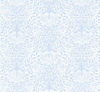24th Scale Wallpaper Acorns Blue on white