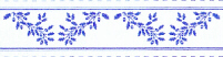 24th Scale Wallpaper Border, Blue on white