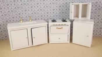 White 4 piece Kitchen Set