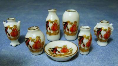 Figurine Vase Set